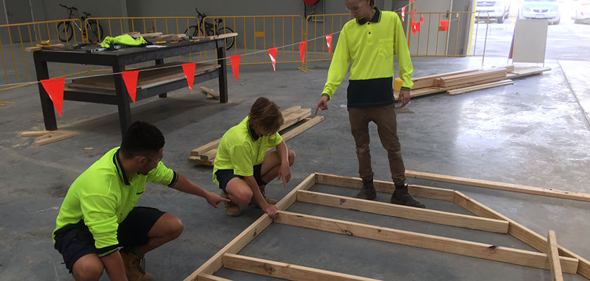 Skill Hire apprentices during their pre-apprenticeship program